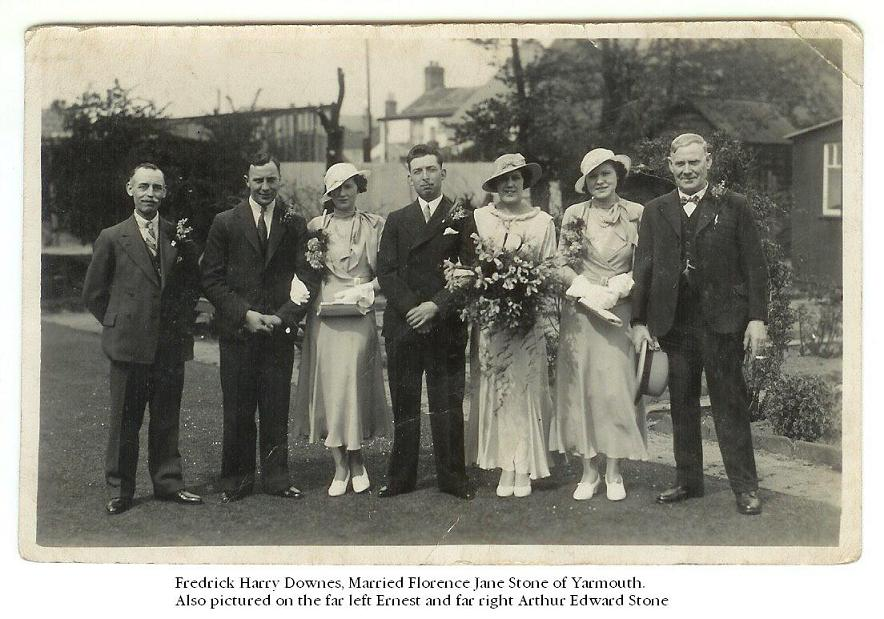 Fred Harry & Florence wedding
