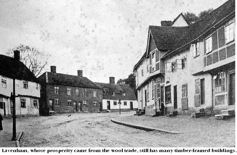Lavenham whose prosperity came from the wool trade