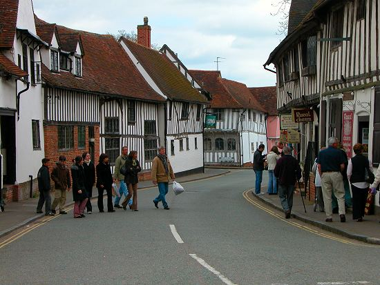Lavenham still has many Tudor timber-frame houses